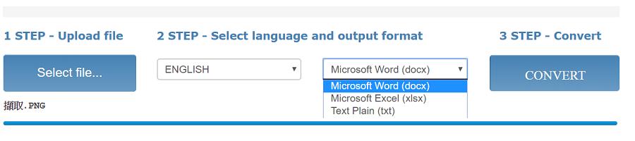 Word Excel txt OCR download