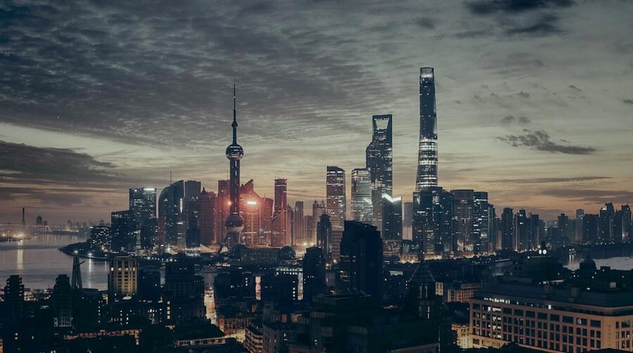 城市 上海 夜景 繁華