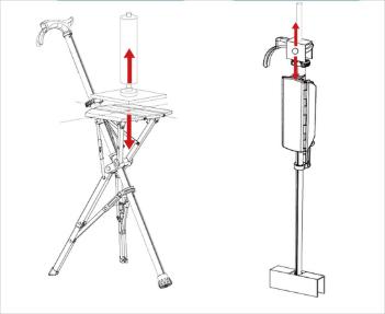 泰達自動拐杖椅