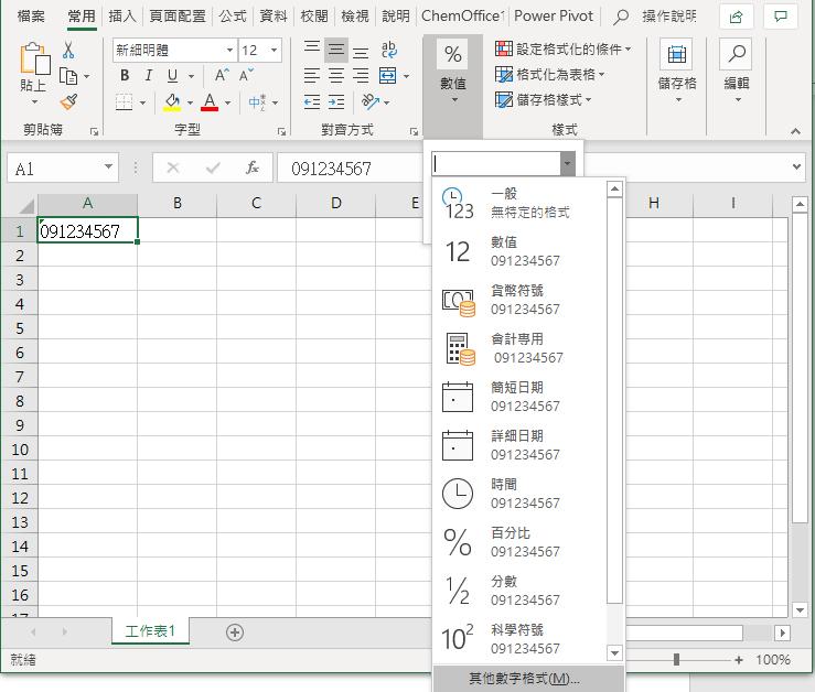 Excel 其他數字格式