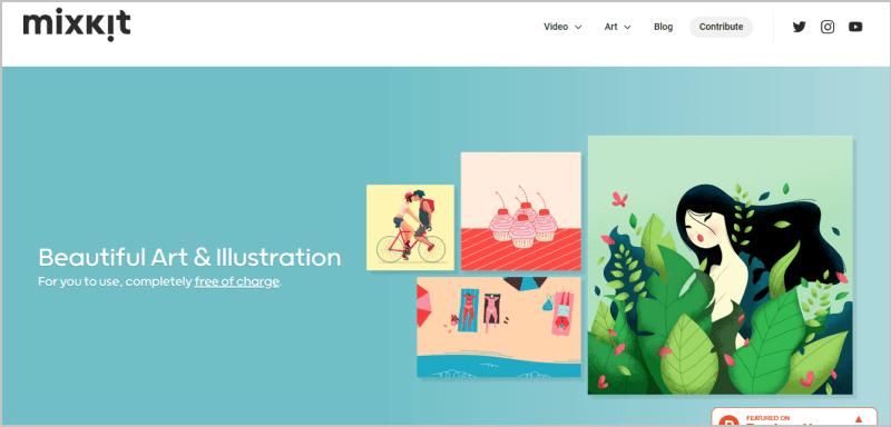 Mixkit art網頁