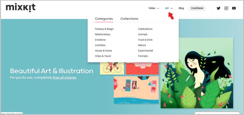 Mixkit art分類