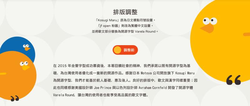 jf open 粉圓字型 排版前