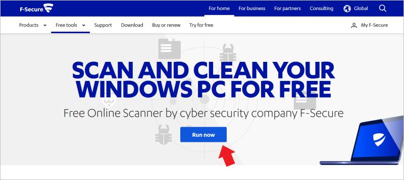 F-Secure Online Scanner 官網