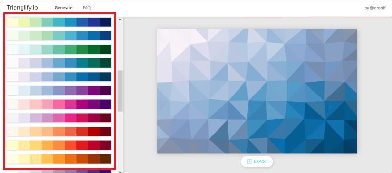 PPT背景 Trianglify .io顏色